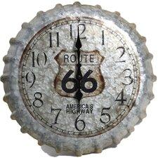 "Springfield Oversized 14.2"" Route 66 Bottle Cap Clock"