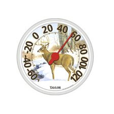 "13.5"" Large Dial Deer Thermometer"