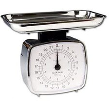 Salter Mechanical Kitchen Scale with Tray in Chrome