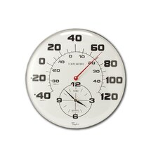 "Taylor Precision Products 18"" Thermometer Wall Clock"