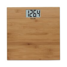 Digital Bath Scale with Bamboo Platform