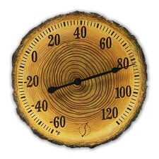 "Tree Trunk Cross Section 12"" Thermometer"