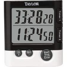 Classic Dual Event Digital Timer and Clock (Set of 6)