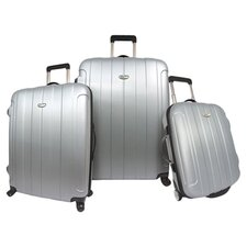 Rome 3 Piece Hard-Shell Spinner Luggage Set