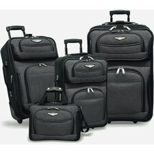 <strong>Traveler's Choice</strong> Amsterdam 4 Piece Two-Tone Travel Set