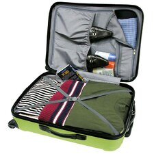 <strong>Traveler's Choice</strong> Freedom 3pc Lightweight Hard Shell Spinning/Rolling Travel Collection in Apple Green