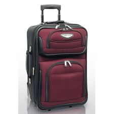 Amsterdam Expandable Rolling Carry - On in Burgundy