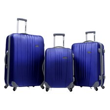 Toronto 3 Piece Hardside Spinner Luggage in Navy