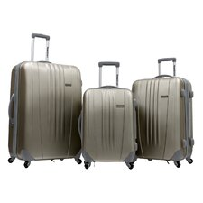Toronto 3 Piece Hardsided Spinner Luggage Set in Gold