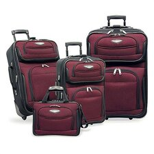 <strong>Traveler's Choice</strong> Amsterdam 4-Piece Two-Tone Travel Set in Red