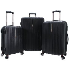 <strong>Traveler's Choice</strong> Tasmania 3 Piece Hardsided Expandable Luggage Set