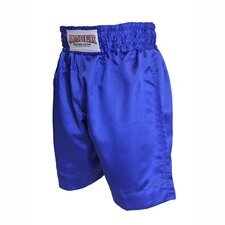 Boys Boxing Shorts in Solid Blue