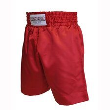 Boys Boxing Shorts in Solid Red