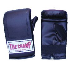 Champ Hook and Loop Black Boxing Gloves