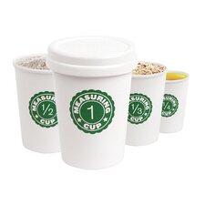 Nesting Coffee Cup Measuring Cups (Set of 4)