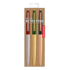Retro Metallic Pen (Set of 3)
