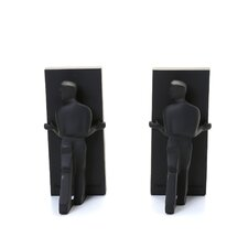 Man Pushing Bookend (Set of 2)