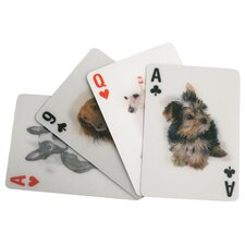3-D Dogs Playing Cards