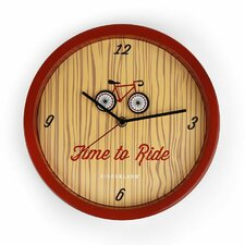 <strong>Kikkerland</strong> Time to Ride Wall Clock