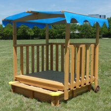 Sand N Shade 4' Rectangular Sandbox with Cover