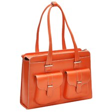 W Series Alexis Leather Laptop Briefcase