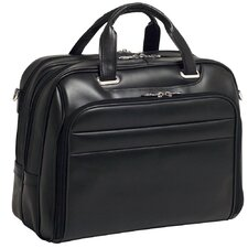 R Series Springfield Leather Laptop Briefcase