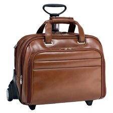 R Series Midway Leather 2-in-1 Removable-Wheeled Laptop Case