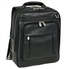 I Series Lincoln Park Leather Briefcase/Backpack in Black