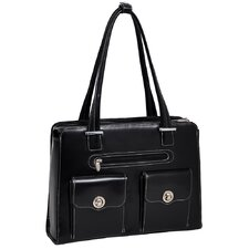 W Series Verona Leather Laptop Briefcase