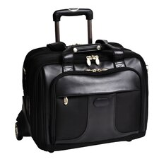 R Series Chicago Nylon 2-in-1 Removable-Wheeled Laptop Overnight Bag in Black