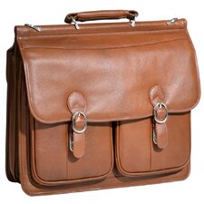 <strong>McKlein USA</strong> S Series Hazel Crest Leather Laptop Briefcase