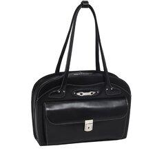 W Series Lyndon Leather Laptop Briefcase
