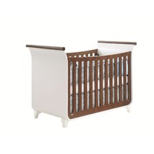 Piccolo Sleigh Crib with Toddler Gate