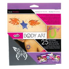 Body Art 25-Pieces Favorite Stencil