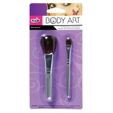 Body Art 2-Piece Glitter Brush