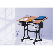 <strong>Martin Universal Design</strong> Creation Station Melamine Drafting Table