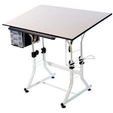 <strong>Martin Universal Design</strong> Ashley Creative White Melamine Hobby Table