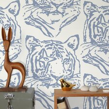 <strong>Aimee Wilder Designs</strong> Star Tiger Wallpaper Sample