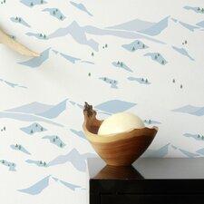 Snow Scene Wallpaper Sample (Set of 2)