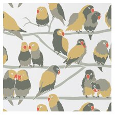 Lovebirds Wallpaper (Set of 2)