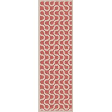 Native Coral/Ivory Geometric Area Rug
