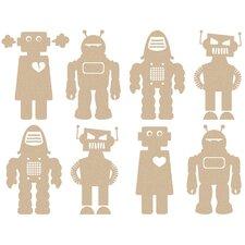 Big Robots Wallpaper Sample (Set of 2)