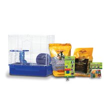 Home Sweet Home Hamster Cage Starter Kit with Sunseed Food