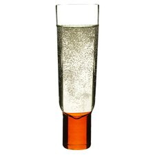 Club Champagne Glass in Orange / Blue (Set of 2)