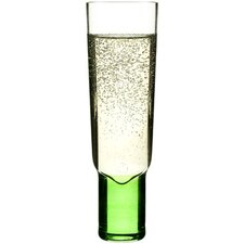 Club Champagne Glass in Green / Pink (Set of 2)