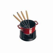 Mini Chocolate 0.25 qt. Fondue Set in Cherry