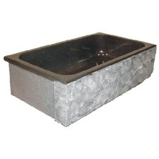 "Farm Charm 33"" x 19"" Single Bowl Farmhouse Granite Kitchen Sink"