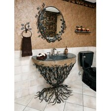 <strong>Quiescence</strong> Organic Suites Embracious Aspen Forest Iron Pedestal Bathroom Sink