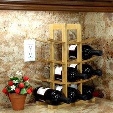 <strong>Oceanstar Design</strong> Bamboo 12 Bottle Tabletop Wine Rack