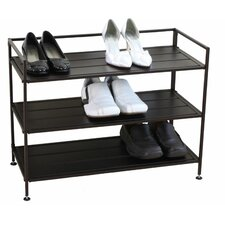 <strong>Oceanstar Design</strong> 3 Tier Stackable Metal Shoe Storage Shelf